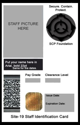 deviant id card template scp foundation id card template by generalpurposegeek on