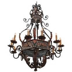 wrought iron chandelier large wrought iron chandelier at 1stdibs