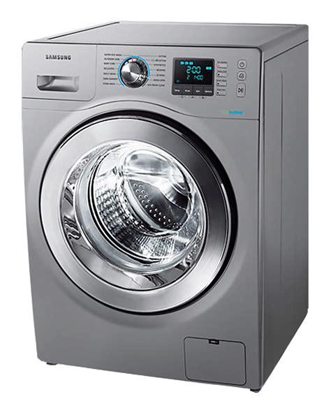 samsung front loader washing machine silver model ww80h5250es newappliances