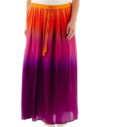 jcpenney stylus stylus woven ombr maxi skirt plus