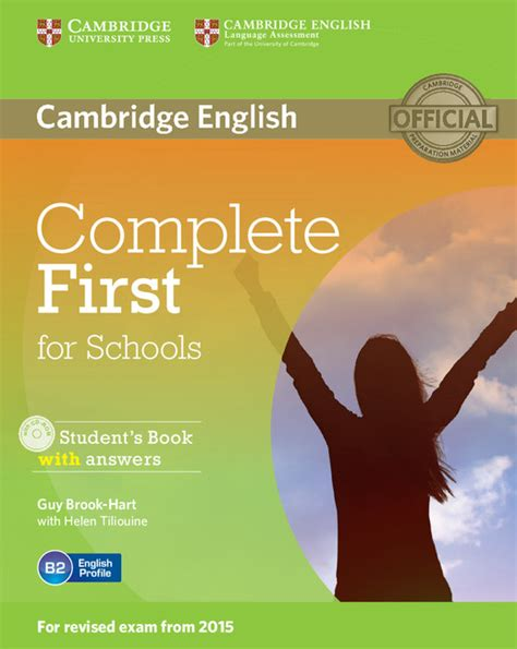 complete first for schools cambridge english first for schools 1 for revised exam from 2015 student s book pack student