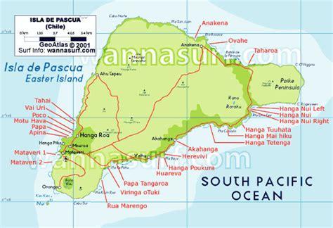 easter island map easter wannasurf surf spots atlas surfing photos maps