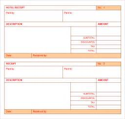 lost receipt template hotel receipt template 9 free for pdf word