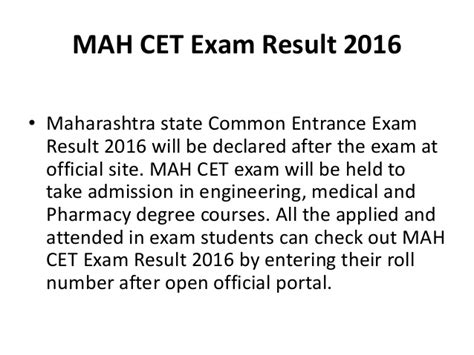 Maharashtra Mba Cet 2016 by Mah Cet Result 2016 Mh Cet 2016 Score Card