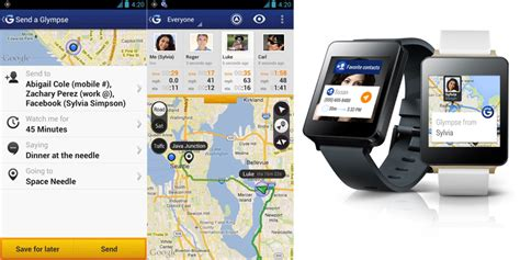 glympse android 8 free best android apps to wear 2015 a graphic
