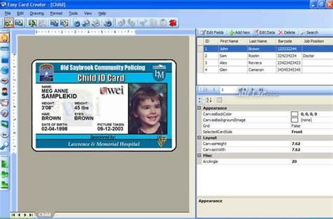 free publisher id card template easy card creator free 11 20 60