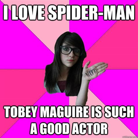 Tobey Meme - i love spider man tobey maguire is such a good actor