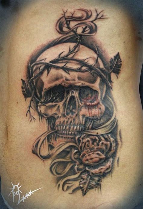 crazy cross tattoos skull tattoos 119 badass skull tattoos and