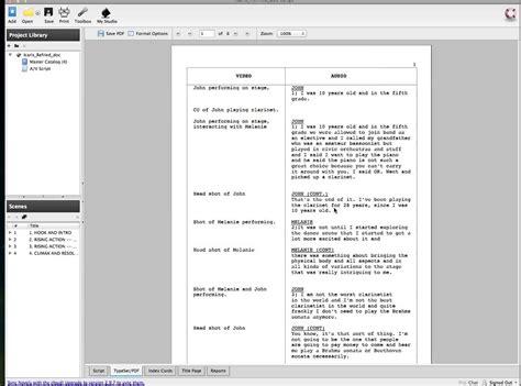 av script template tutorial on celtx on vimeo