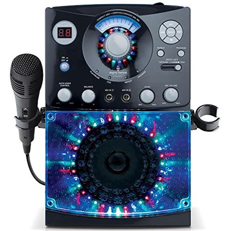 karaoke with disco lights singing machine sml 385 top loading cdg karaoke system