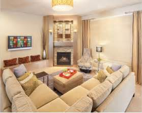 corner fireplace sectional placement living room