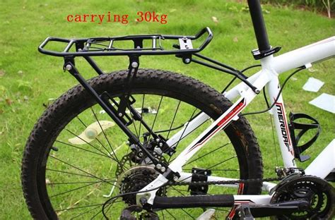 How To Use A Rear Bike Rack by 30kg Is Safe Black Alloy Aluminum Bike Rear Rack Fit Disc