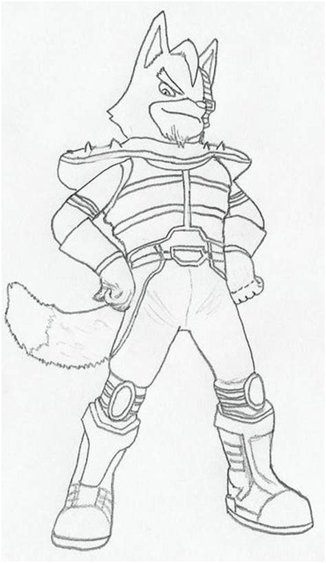 star fox wolf coloring pages coloring pages