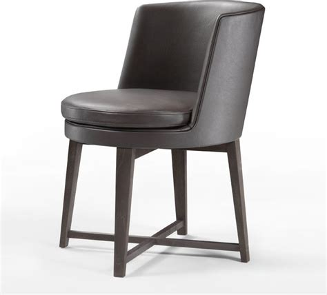 Flexform Feel Good Chair Low Back Wood Base Modern Low Back Dining Chairs