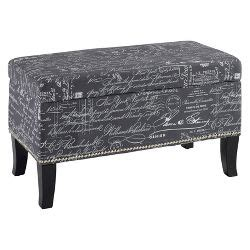 Kinfine Square Tufted Storage Ottoman Square Storage Ottoman Woven Script Kinfine Target