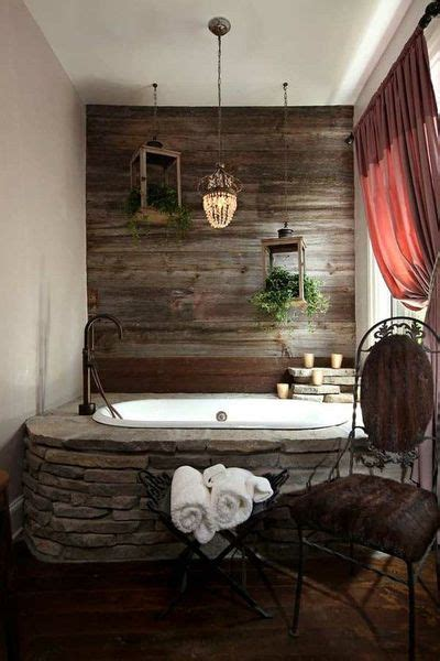 Barn Wood Bathroom I Love The Barn Wood Accent Wall Bath Ideas Juxtapost