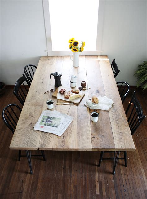 diy reclaimed wood table  merrythought