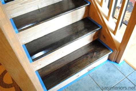 Staining Unfinished Kitchen Cabinets my staircase is finished jenna burger