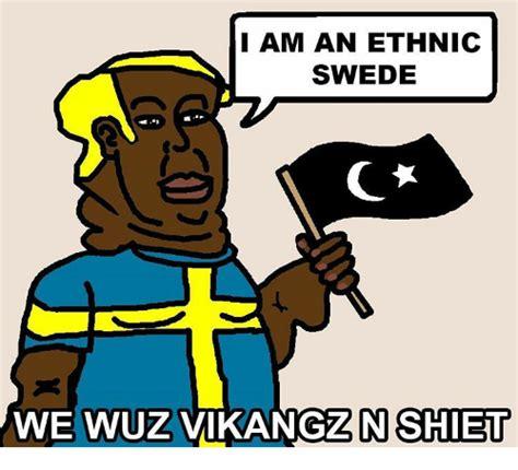 Shiet Meme - we wuz i am an ethnic swede n shiet meme on sizzle