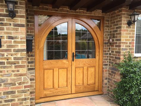 Exterior Front Doors Uk Oak Glazed Front Door The West Sussex Antique Timber Company Limited