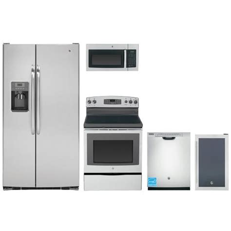 ge stainless steel kitchen appliance package ge stainless steel complete kitchen package gss25csh