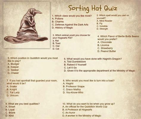 hogwarts houses quiz best 25 hogwarts sorting hat quiz ideas on pinterest