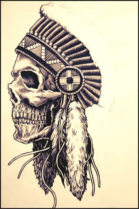 indian skull by kosewskiart on deviantart
