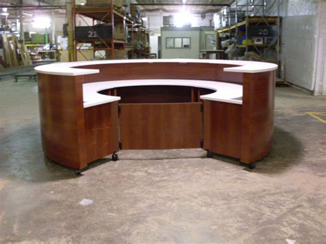 Mobile Reception Desk Mobile Reception Desk L Shaped Reception Desk With
