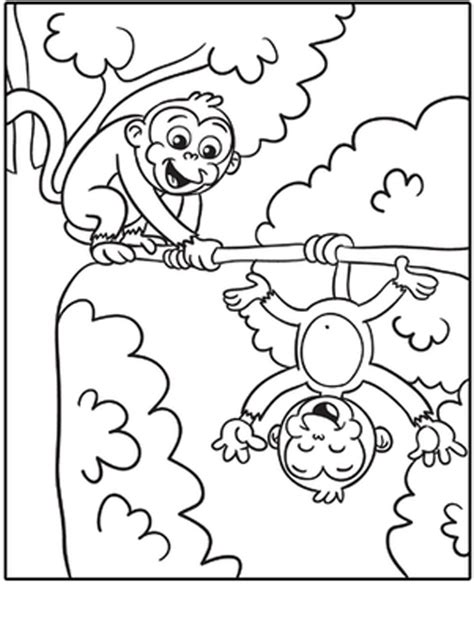 free coloring print coloring monkey with monkey