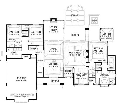 one story house plans with large kitchens big house plans photos