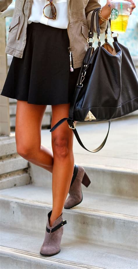 ankle boots with a mini skirt how to wear ankle boots