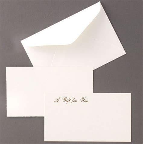Gift Enclosure Cards And Envelopes - enclosure cards and envelopes the packaging source
