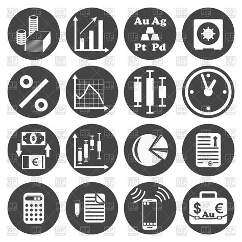 clipart royalty free business icons set royalty free vector clip image