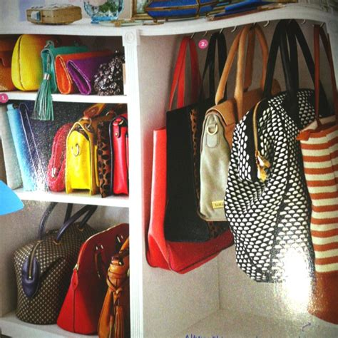 purse closet organizer purse organizer in walkin closet she s crafty