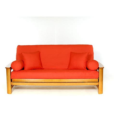 orange size futon cover