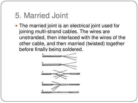 different types of electrical wire joints types of electrical joints types of electrical joints