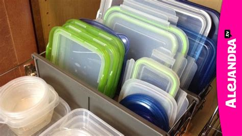 Kitchen Cabinet Pull Out Organizer by How To Organize Food Storage Containers Youtube