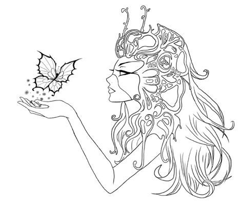 cute elf coloring pages butterfly by cute elf deviantart adult colouring