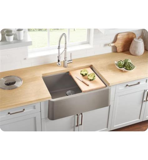 Silgranit Farmhouse Sink blanco 401777 ikon 30 quot single bowl farmhouse front apron silgranit kitchen sink in truffle