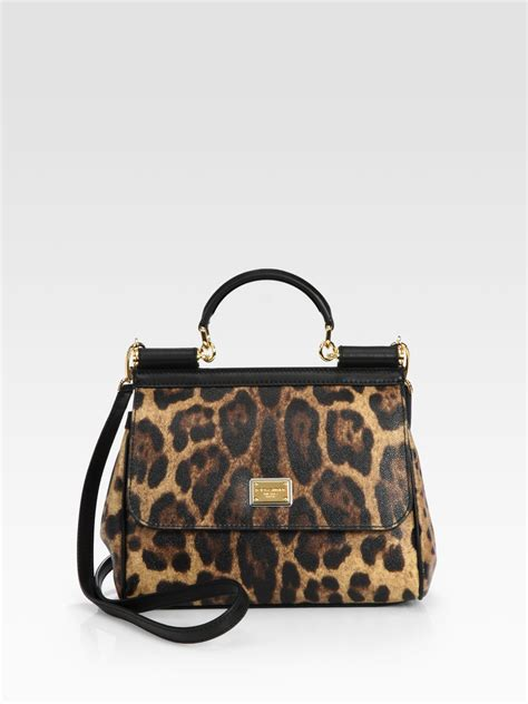 Dg Dolce And Gabbana Suzanne Satchel by Lyst Dolce Gabbana Sicily Leopard Printed Coated