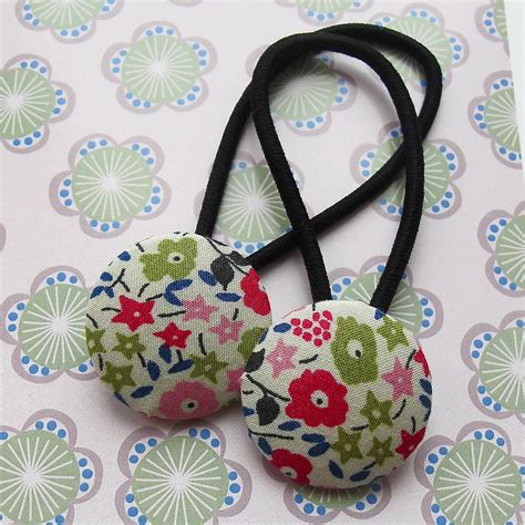 Fabric Hair Band set of two handmade fabric hair bands by edamay