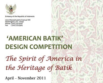 Batik Design Competition | american batik design competition and batik fashion show