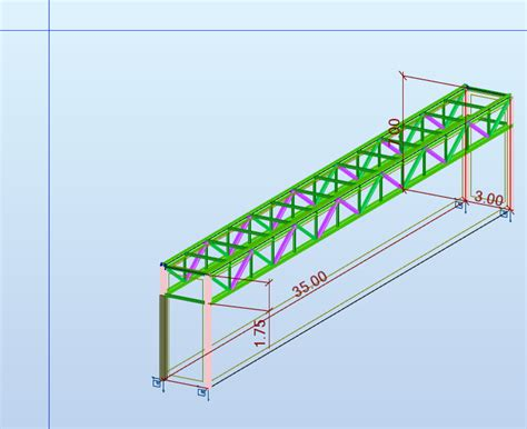 pont m 233 tallique grande 233 e faible charge charpente