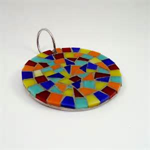 colorful glass mosaic christmas ornament