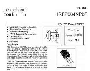 Irfp260n irfp260n high power mosfet 200v 50a mosfets international rectifier infineon jsumo