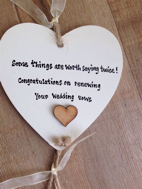 Wedding Vows Gift by Shabby Personalised Gift Chic Plaque Renewing