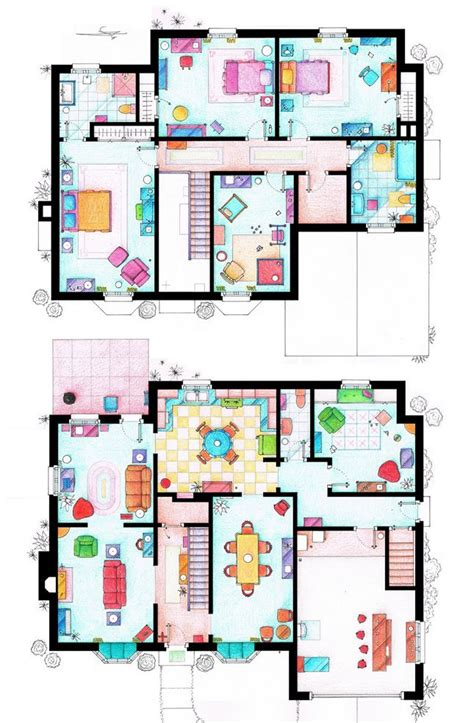 pin simpsons house floor plan on pinterest 18 best images about floor plans from tv movie homes on