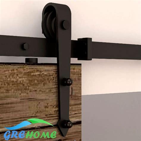 Discount Barn Door Hardware 4 9ft 6ft 6 6ft Carbon Steel European Modern Wood Sliding Barn Door Hardware Kits In Doors From