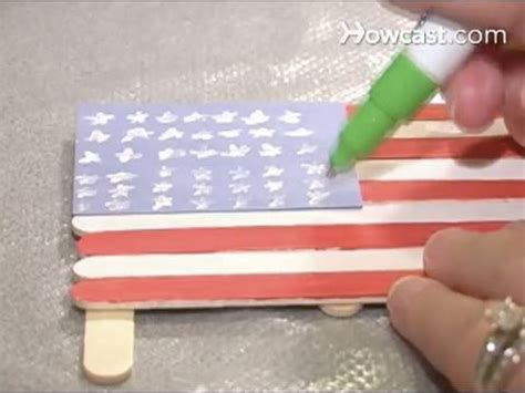 How To Make A Paper Flag - how to make an american flag out of popsicle sticks