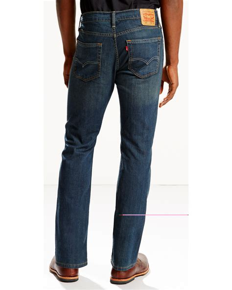 mens low rise boot cut levi s s 527 low rise zip fly stretch boot cut